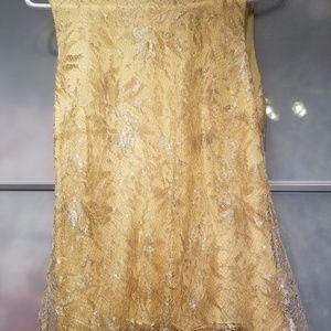NWT Dolce&gabbana silk lace overlay top size 42